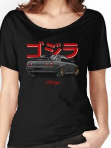 Nissan Skyline GTR R32 (black) Women's Relaxed Fit T-Shirt