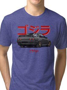 Nissan Skyline GTR R32 (black) Tri-blend T-Shirt