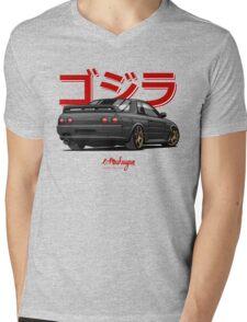 Nissan Skyline GTR R32 (black) Mens V-Neck T-Shirt