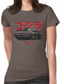 Nissan Skyline GTR R32 (black) Womens Fitted T-Shirt