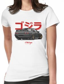 Nissan Skyline GTR R32 (black) Womens Fitted T-Shirt
