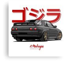 Nissan Skyline GTR R32 (black) Metal Print