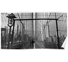 Black White New York Brooklyn Bridge nr 5 Poster