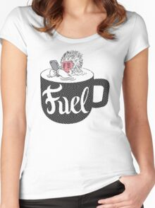Coffee is Fuel Women's Fitted Scoop T-Shirt