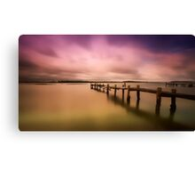 Old jetty 01 Canvas Print