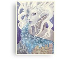 Lady Frost Canvas Print