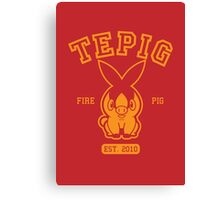 Tepig - College Style Canvas Print