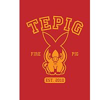Tepig - College Style Photographic Print