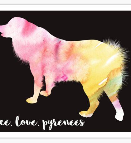 Peace, Love, Pyrenees Sticker
