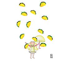 Raining Tacos Photographic Print