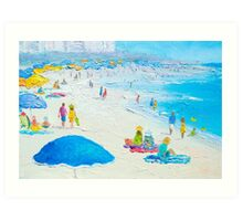 Miami Beach, Florida - Beach painting Art Print