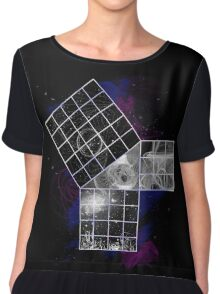 Pythagoras Abstract Design Chiffon Top