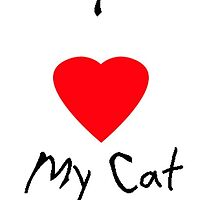 I love my cat by blueriverpet