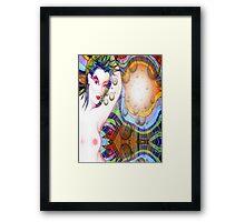 #*Naked Girl Time Travelling#* Framed Print