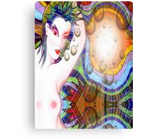 #*Naked Girl Time Travelling#* Canvas Print