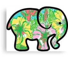 big flirt Lilly print elephant  Canvas Print
