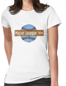 Major League Blvd. Womens Fitted T-Shirt