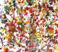 Exploding Fall Tree Sticker