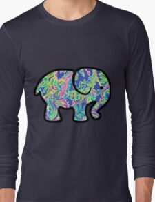 in the garden lilly print elephant Long Sleeve T-Shirt