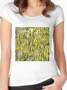 Yellow leaves pop K1 Women's Fitted Scoop T-Shirt