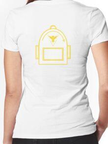 Pokemon Go backpack- Team Instinct Women's Fitted V-Neck T-Shirt
