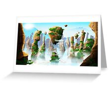 Floating Mountains Greeting Card