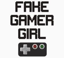 Fake Gamer Girl Kids Tee