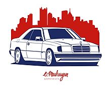 Mercedes Benz W124 Coupe Photographic Print