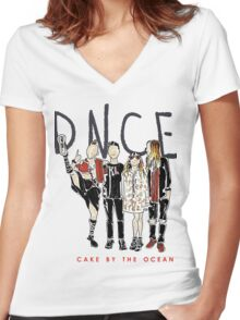 DNCE Women's Fitted V-Neck T-Shirt