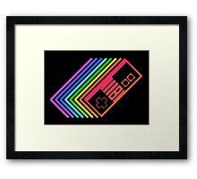 NES Controller Rainbow Framed Print