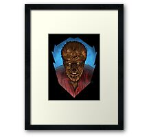 Where Does the Man End - And The Beast Begin? Framed Print