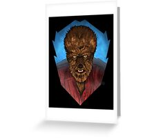 Where Does the Man End - And The Beast Begin? Greeting Card
