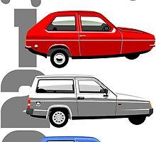 Reliant Robin evolution by car2oonz