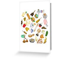 Happiest food on Earth Greeting Card