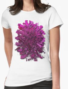 paper puzzle flower Womens Fitted T-Shirt