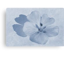 Linen Watercolour Cyanotype Canvas Print