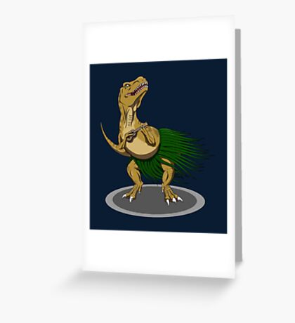 T-Rex Ukulele Greeting Card