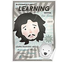 Learning with Jon Snow Poster