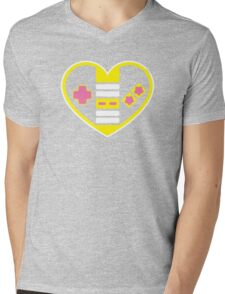 Retragamer - NES Controller Heart Mens V-Neck T-Shirt