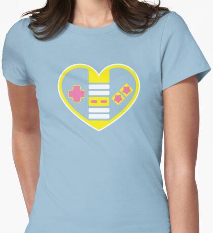 Retragamer - NES Controller Heart Womens Fitted T-Shirt