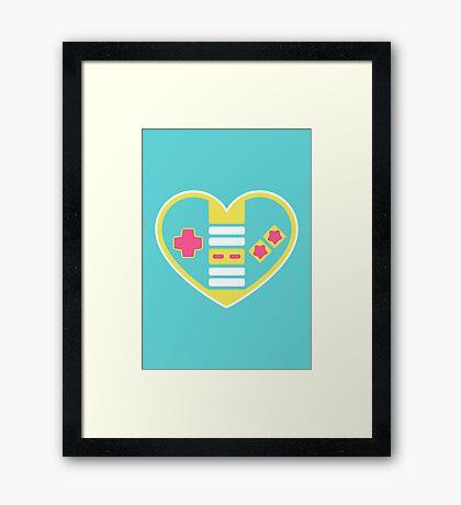 Retragamer - NES Controller Heart Framed Print