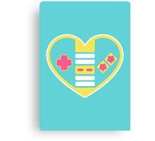 Retragamer - NES Controller Heart Canvas Print