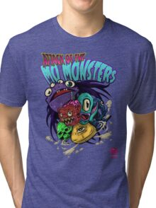 ATTACK OF THE MOMONSTERS Tri-blend T-Shirt