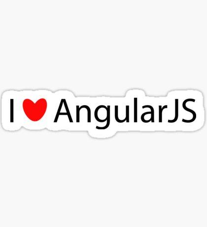 I <3 AngularJS Sticker