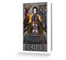 Dehas poster Greeting Card