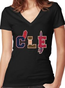Cleveland Pride Women's Fitted V-Neck T-Shirt