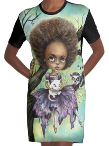 Cynthia and Critters Graphic T-Shirt Dress