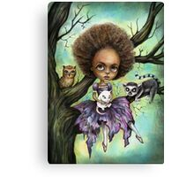 Cynthia and Critters Canvas Print