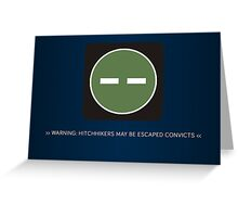 ODST Superintendent Warning Greeting Card