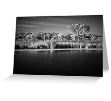 Where Prairie Meet Water Infrared Greeting Card